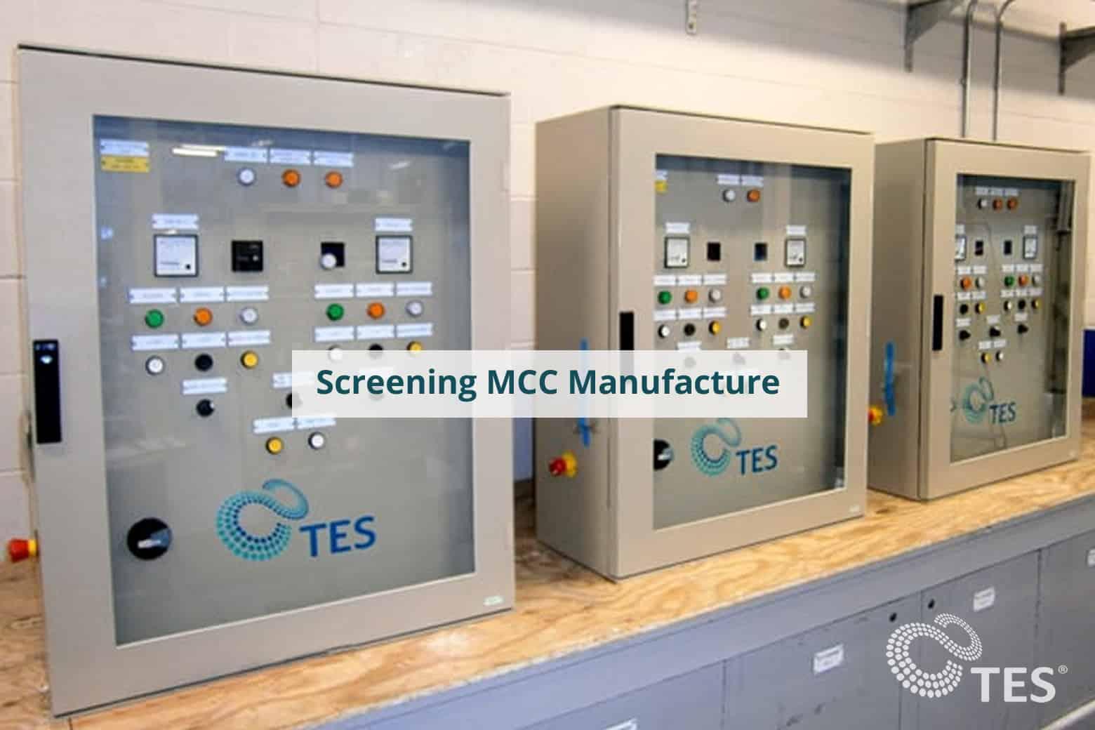 Screening MCC Manufacture